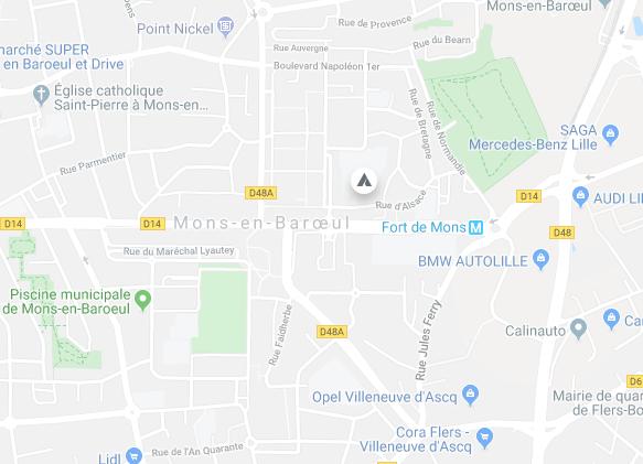 Adresse : 8 Ter Rue d'Alsace, 59370 Mons-en-Barœul